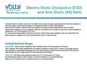 Electro-Static Dissipative (ESD) Belt