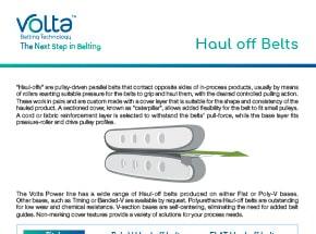 Haul-Off Flyer Belts